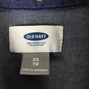 Old Navy Dresses - Old Navy Womens Chambray Denim Shirt Dress Dark